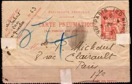 CLPP 2604  -Pneumatique  Du 3/8/34 - Entiers Postaux