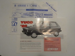PUBLICITé (M1414) VOITURE YUGO Montana (3 Vues) Yugo 65A - Transports