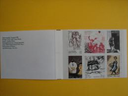 Suède 1601/1606 Carnet C1601  ** 1990 Poètes Suédois , Peintures  - Booklet Scott 1836a -facit H408 Bellman Taube Poets - Carnets