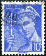 FRANCIA, FRANCE, 1938, DIVINITA, MERCURIO, MERCURY, FRANCOBOLLO USATO, Scott 356 - Oblitérés