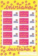 France Bloc Ceci Est Une Invitation N° 3760A Vignette Timbres Personnalisés - Gepersonaliseerde Postzegels