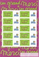 France Bloc Un Grand Merci N° 3761A Vignette Timbres Personnalisés - Gepersonaliseerde Postzegels