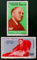 FRANKLIN D. ROOSEVELT 1970 - NEUFS ** - YT PA 80/81 - MI 297/98 - Haute-Volta (1958-1984)