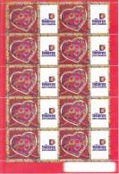 France Bloc Coeurs De Scherrer N° 3861A Vignette Timbres Personnalisés - Gepersonaliseerde Postzegels