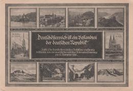 Litho AK Volksbund Deutschösterreich Ist Bestandteil Der Deutschen Republik Österreich Wien Nationalversammlung 1918 - Weltkrieg 1914-18