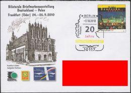 Plusbrief Deutsche Einheit Sonderstempel Dreifarbig Schwarz+Rot+Gold - Sobres - Usados