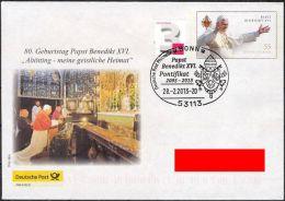 Plusbrief Papst Benedikt XVI. Rücktritt SST Pontifikat 28.2.2013 Benedetto Pope - Sobres - Usados
