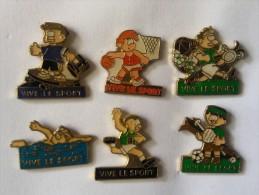 Lot Pins ,Vive Le Sport - Badges