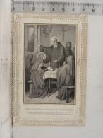 Image Religieuse Canivet Dentelle,  Dernier Entretien De ST Benoit Et De Ste Scholastique - Images Religieuses