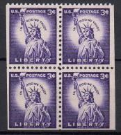 Etats-Unis - 1954 - Yvert N° 581 **  Bloc De 4 Partiellement Dentelé - Nuevos
