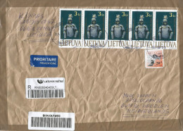 Lithuania 2014 Vilnius Armory Harness Barcoded Registered Cover - Litouwen