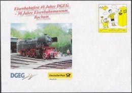 Plusbrief Kreativ Ganzsache Deutsche Post Philatelie EB Team EA EB3 Eisenbahnfest Bochum ** - Sobres - Nuevos