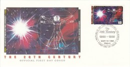 Marshall Islands FDC Scott #654k 60c Man's Universe Expands - Events Of The 20th Century - Marshall