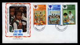 TRINIDAD & TOBAGO - 1979 INTERNATIONAL YEAR OF THE CHILD IYC OFFICIAL LOW VALUES FIRST DAY OF ISSUE FDC SG 532-534 - Childhood & Youth