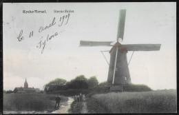 Rijkevorsel Rycke-vorsel Steenen Molen (in Kleur) 1909 - Moulin à Vent - Rijkevorsel