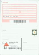 Pluskarte Kreativ Ganzsache Deutsche Post Nachnahme Inkasso-Beleg 45C Margerite 2. Auflage 39 Löcher - Postales - Nuevos