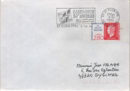"""Lettre Souvenir Guerre 39/45 Flamme =o 93 St Ouen Ppal 3-10 1994 """"Saint Ouen 50è Anniversaire De La Libération - Marcophilie (Lettres)"""