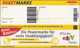 Paketmarke DHL Ebay Partner Sonderauflage MiNr. WPZ 3 Auflage 5000 Stück - Sobres Privados - Nuevos