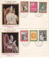 Vatican City FDC Scott #439-#444 Set Of 6 Stamps On 2 Covers Conclusion Of Vatican II - FDC