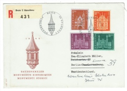 Suisse /Schweiz/Svizzera/Switzerland/lettre Recommandée 1er Jour Pour Berlin - Svizzera