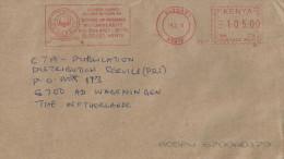 "Kenya 2014 Eldoret Meter Franking Pitney Bowes-GB ""5000"" PB012 School Of Medicine Moi University Cover - Kenia (1963-...)"