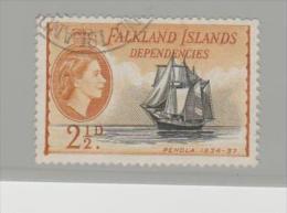 Falkland (Dependencies) Ship Penola 1954 - Falklandinseln