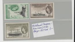 Falkland (Dependencies) Mi.Nr. 19-21, Ships, 1954 ** - Falklandinseln