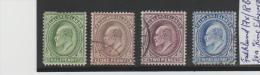 Falkland  17x, 18bx, 19a, 20a, KING EDWARD Vii ISSUED 1904 AND 1907 O - Falklandinseln