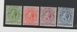 Falkland  / Mi.Nr. 25-28 (1912) King  Georg V * - Falklandinseln