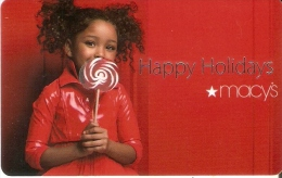 TARJETA DE REGALO DE MACY´S (GIFT CARD-CADEAU) HAPPY HOLIDAYS - Non Classés