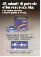1970 - EFFERDENT     -   1 P.  Pubblicità Cm. 13,5 X 18,5 - Magazines