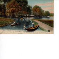 80 AMIENS Les Hortillonnages, L'Ile Robinson, Colorisée, Personnages, Barques - Amiens