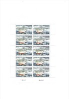 TAAF Feuille 10 Timbres Neufs Patrouilleur OSIRIS - Unused Stamps