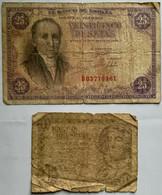 SPAGNA Banconota 25 PESETAS Banco De Espana 19/2/1946 Florez Estrada - [ 3] 1936-1975 : Regime Di Franco