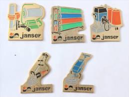 Lot De  5 JANSER - Matèriel De Nettoyage Industriel -  D1205 - Pin's