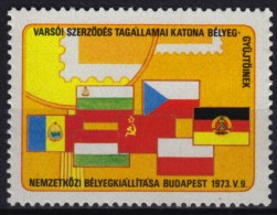 Warsaw Pact FLAGS Flag / DDR Romania Bulgaria Poland Czechoslovakia CCCP - MNH Label / Cinderella - 1973 Hungary - Sellos