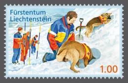 lie2130301 Liechtenstein 2013 Voluntary Civil Protection Work Avalanche rescue-dog handler Red Cross Michel Nr.1665-6