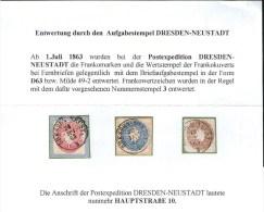 Sachsen Spezial - Lot Mit Stempel D63 - Kabinett - Allemagne