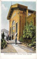 [DC5866] CARTOLINA - SALSOMAGGIORE - FACCIATA TERME MAGNAGHI - ANIMATA - Non Viaggiata - Old Postcard - Parma