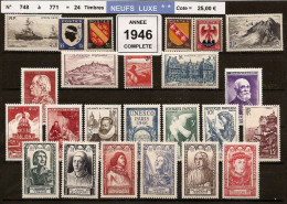 FRANCE - Année Complète 1946 - NEUF LUXE ** 24 Timbres - France