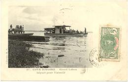 Belle CPA A  - Cote D´Ivoire - Grand Lahou - Départ Pour Tiassalé - Côte-d'Ivoire
