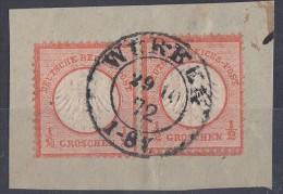 DR Briefstück Minr.2x 14 Nachv. Stempel Wurben 29.10.72 - Oblitérés