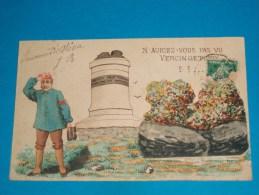 21) Alise-sainte-reine - Carte Systéme - Souvenir D'alésia - Nauriez-vous Pas Vu Vercingetorix   - EDIT - Sennelier - France