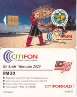 MALAYSIA(chip) - Kite Playing, Rakan Muda/Rakan Rekreasi, CITIFON Telecard RM20, Used