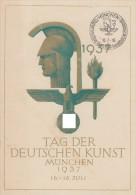 DR Amtliche Festpostkarte Tag Der Dt. Kunst 1937 EF Minr.646 SST München 16.7.37 - Briefe U. Dokumente