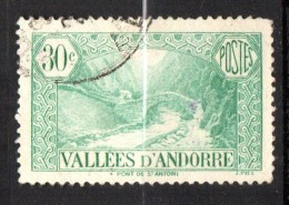 Andorre N° 32 Oblitéré  Cote Y&T  4,00  €uro  Au Quart De Cote - Oblitérés