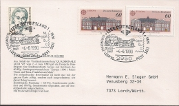 1990  Allem. Fed. Deutschland Mi. 1461+ Sonderpostkarten-Marke Brief  Gest. 4.6.1990  Europa - Europa-CEPT