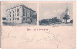Gruß Aus GÄNSERNDORF K. U. K. Bezirkshauptmannschaft Kirchenplatz 8.12.1900 Gelaufen - Gänserndorf