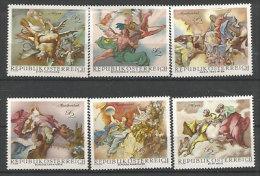 AUTRICHE. Fresques Baroques Des Chateaux D'Autriche Par Franz Anton Maulbertsch. 6 T-p Neufs ** - Arts
