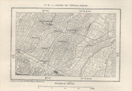 Cartina Francese Del 1876  FAENZA Solarolo Russi Bagnacavallo Lugo  Cotignola Mordano    Etc. - Karten